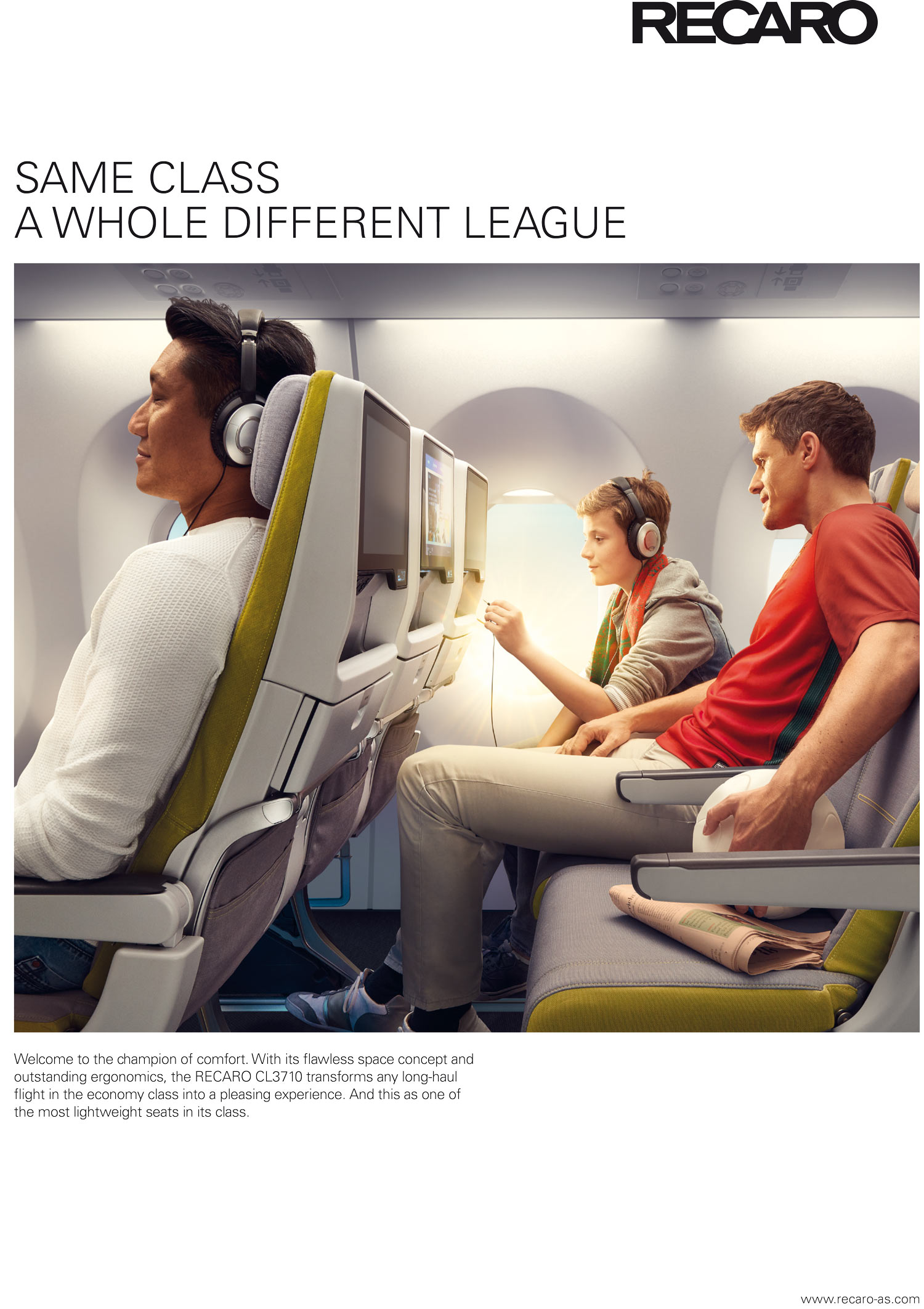 Recaro aircraft seating